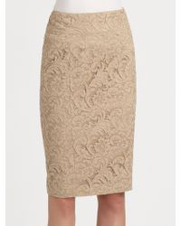 Burberry Lace Pencil Skirt - Lyst