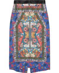 Clements Ribeiro - Folk Candy Printed Silk Skirt - Lyst