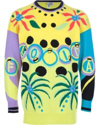 Gianni Versace Vintage Florida Sweater - Lyst