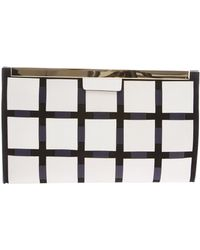 Marni Structured Grid Clutch - Lyst