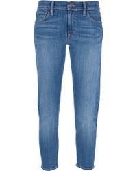 Ralph Lauren Cropped Skinny Jean - Lyst