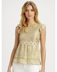 RED Valentino Silk Daisy Top - Lyst
