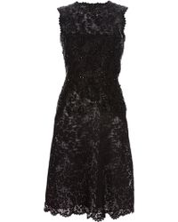 Valentino Beaded Lace Dress - Lyst