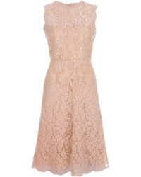 Valentino Embellished Lace Dress pink - Lyst