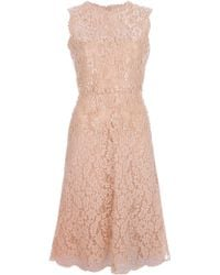 Valentino Embellished Lace Dress - Lyst