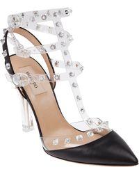 Valentino Transparent Rockstud Sandal - Lyst