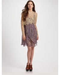Zimmermann Conversation Paisley Lace Waterfall Dress - Lyst