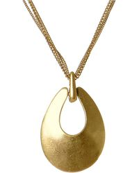 Kenneth Cole - Sculptural Pendant Necklace - Lyst
