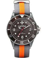 Rumbatime Grey and Orange Round Watch