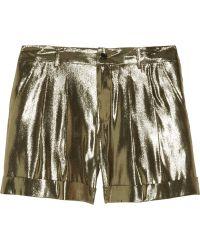 Skaist Taylor - Metallic Silkblend Lamé Shorts - Lyst