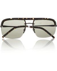 Saint Laurent Aviatorstyle Acetate and Metal Sunglasses - Lyst