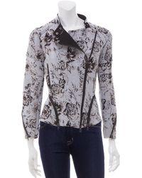 3.1 Phillip Lim Floral Corded Moto Jacket - Lyst