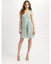 Alice + Olivia Fauxwrap Drape Dress - Lyst