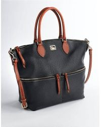Dooney & Bourke Dillen Ii Large Leather Pocket Satchel Bag - Lyst