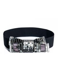 Lanvin Embellished Bow Elasticated Belt - Lyst