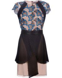 Marios Schwab Short Sleeve Lace Dress - Lyst