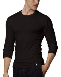 Polo Ralph Lauren Longsleeved Stretch Cotton Crewneck Shirt - Lyst