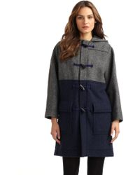 Cacharel Colorblock Toggle Coat - Lyst
