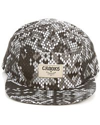 Crooks and Castles - The Jungle Fever 5 Panel Hat in Snake Print - Lyst
