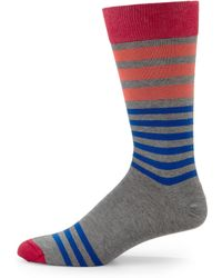 Hook + Albert - Vanilla Striped Socks - Lyst