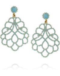 Kenneth Jay Lane Goldplated Crystal Clip Earrings - Lyst