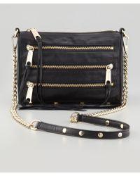 Rebecca Minkoff Five-Zip Mini Crossbody Bag - Lyst
