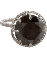 Sharon Khazzam - Women's Natural Black Diamond Ring - Lyst
