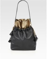 Vionnet Two Tone Drawstring Shoulder Bag - Lyst