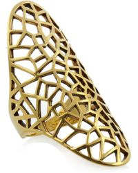 Zadig & Voltaire - By Gaia Repossi 18karat Goldplated Ring - Lyst