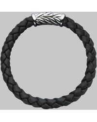 David Yurman Sterling Silver Braided Rubber Bracelet - Lyst
