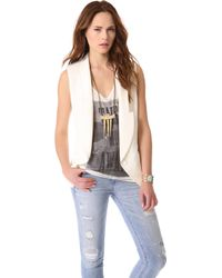 Haute Hippie Long Vest - Lyst