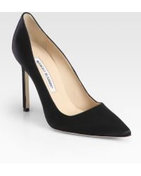 Manolo Blahnik Bb Satin Pumps - Lyst