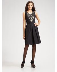 Oscar de la Renta Silk Faille Dress - Lyst
