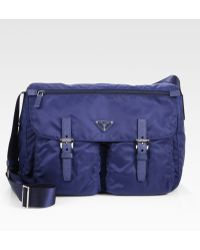 Prada Vela Two-Pocket Messenger Bag - Lyst