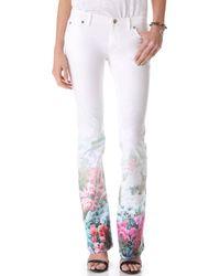 Rebecca Minkoff - Digital Floral Skinny Boot Jeans - Lyst
