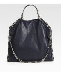 Stella McCartney Shaggy Deer Falabella Fold-Over Small Tote - Lyst