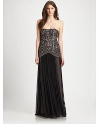 Sue Wong Strapless Gown - Lyst