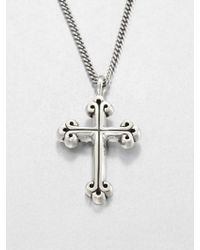 King Baby Studio Traditional Cross Pendant Neclace - Lyst