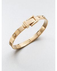 Michael Kors Astor Rivet Buckle Bangle Bracelet/Rose Goldtone gold - Lyst