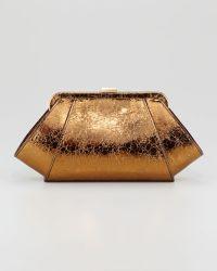 Z Spoke by Zac Posen - Posen Metallic Clutch Bag - Lyst