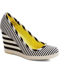 ModCloth Alright with Me Wedge in Stripes - Lyst