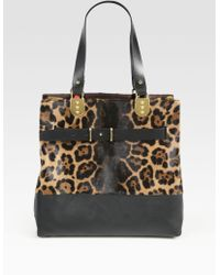 Christian Louboutin Sybil Reversible Tote Bagleopardprint Pony Hair Brown Leather - Lyst