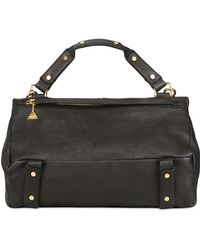 Golden Lane - Large Washed Leather Duo Satchel - Lyst