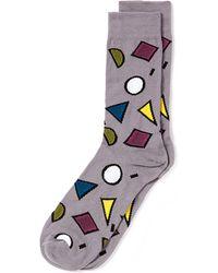 Topman Multi Coloured Pop Geo Socks - Lyst