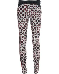 Balenciaga Skinny Rhombus Print Trouser - Lyst