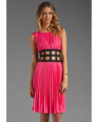 BCBGMAXAZRIA Cut Out Dress in Ultra Pink - Lyst