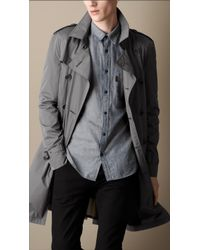 Burberry Mid-length Technical Taffeta Trench Coat - Lyst