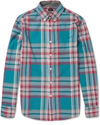 J.Crew Nelson Madrascheck Cotton Shirt - Lyst