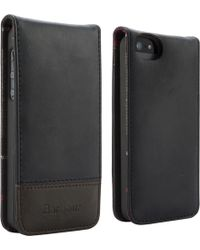 Barbour - Leather Flip Case For Iphone 5 - Lyst