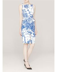 Emilio Pucci Printed Sleeveless Dress white - Lyst